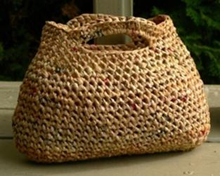 Crochet! Easy, Simple, And Useful, Striped Grocery Bag Holder!