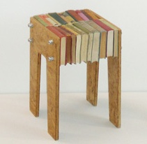 Upcycled Book Stool