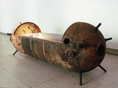 WWII upcycled mine sink