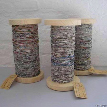 How to make paper yarn for textiles
