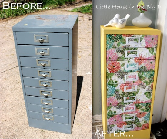 Designer inspiration eco furniture of the future Upcycled metal filing cabinet