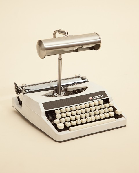 Typewriter re-purposed into a lamp