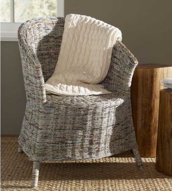 Recycled Newspaper Chair