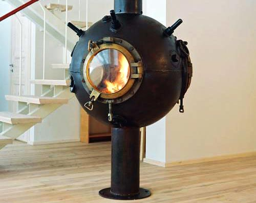 Sea Mine Fire Place