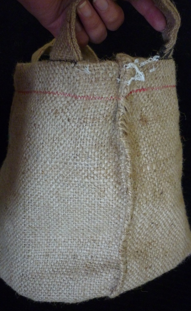 I left as much Coffee sack uniqueness as I could - this is the  original sack seam. :)