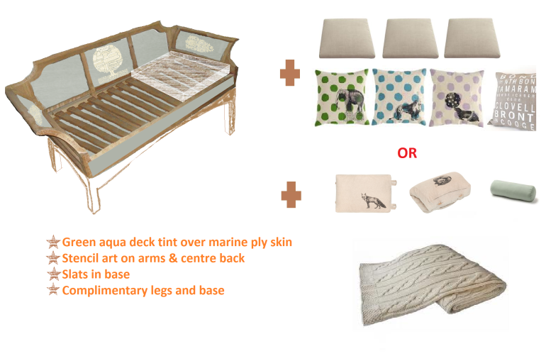 My rough drawings for the day bed design