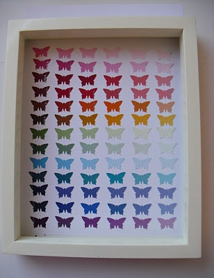butterfly paint chip