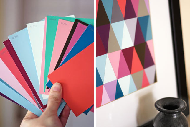 geometric art paint chip