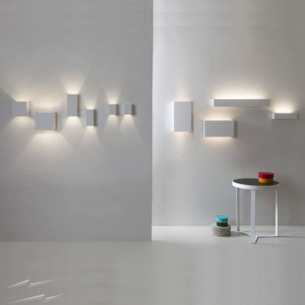 Astro Parma white plaster LED Uplight