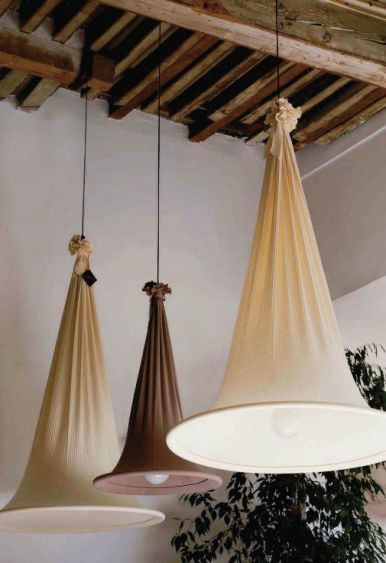fabric cone light