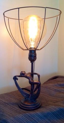 Scarf lady lamp